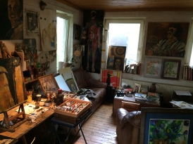 Das Atelier von Hannes Hiller (Foto: © 2016 Wolfgang Weßling)