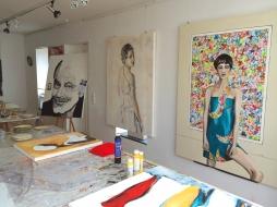 Das Atelier von Christiana Fietze (Foto: © 2016 Wolfgang Weßling)