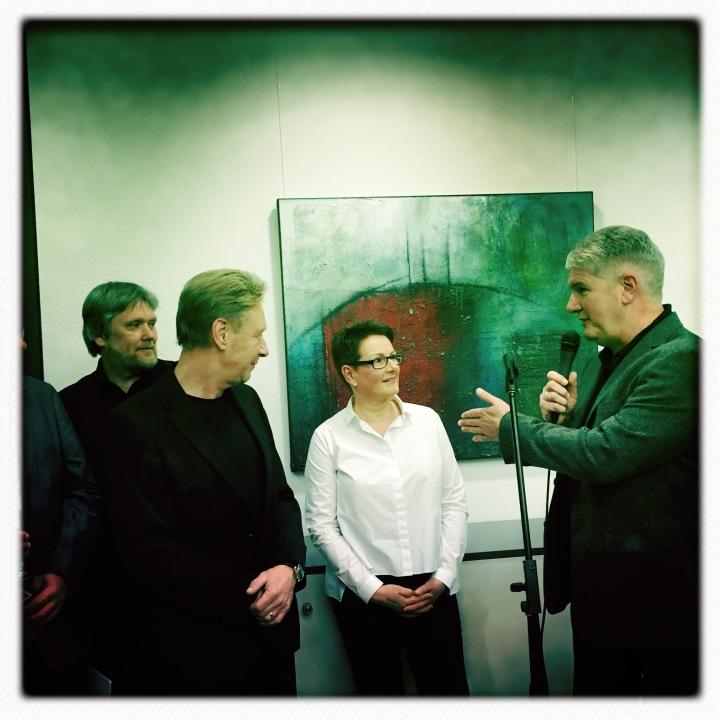 (v.l.n.r.:) Dr. Thomas Ebers, Dr. Miho Nicoloff, Angelika Metten, Wolfgang Weßling (Foto: © 2017 Kerstin Snekker)